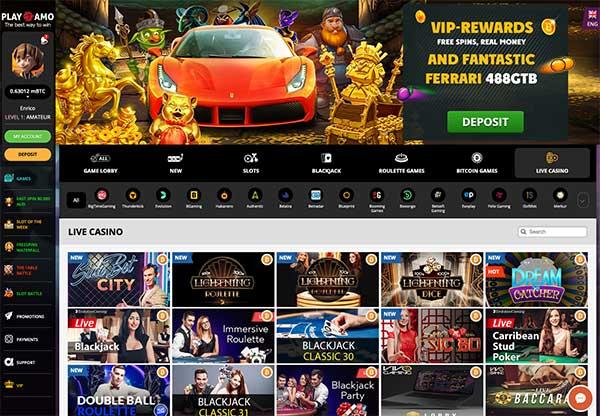 Playamo Live Casino